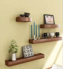 home interior shelves mango wood set of 4 shelves by market finds wall