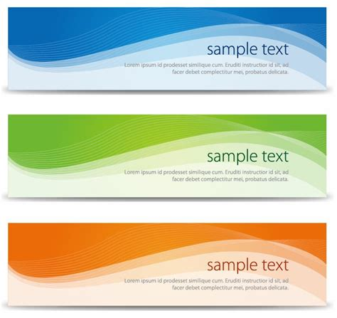 free banners for websites templates abstract banners set vector illustration free vector