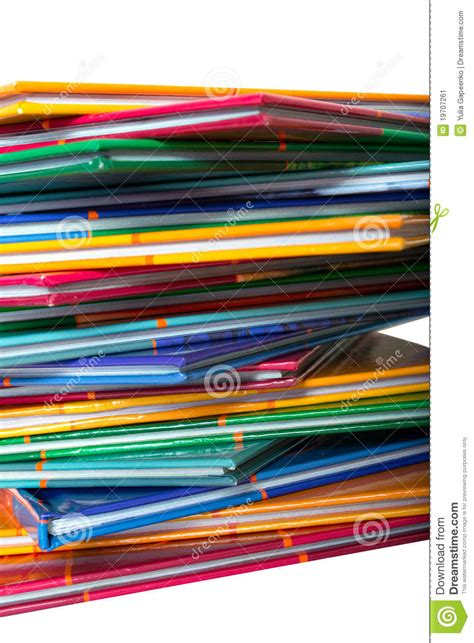 on thin books a stack of colored thin books stock image image 19707261