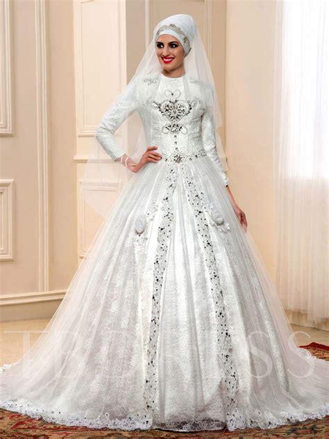 beading for wedding dresses islamic beading lace chapel train royal muslim wedding