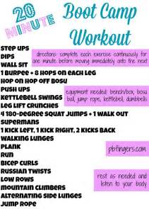 20 minute boot c workout peanut butter fingers