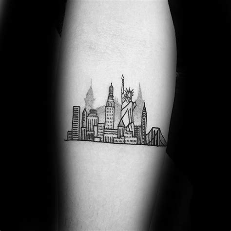 new york skyline tattoo 60 new york skyline designs for big apple ink
