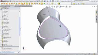 solidworks tutorial indent making of shoo bottle using loft indent split