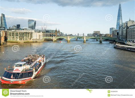 thames river capital boat cruises on the river thames london editorial photo