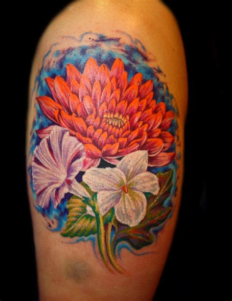 chrysanthemum flower tattoo designs 12 chrysanthemum shoulder tattoos