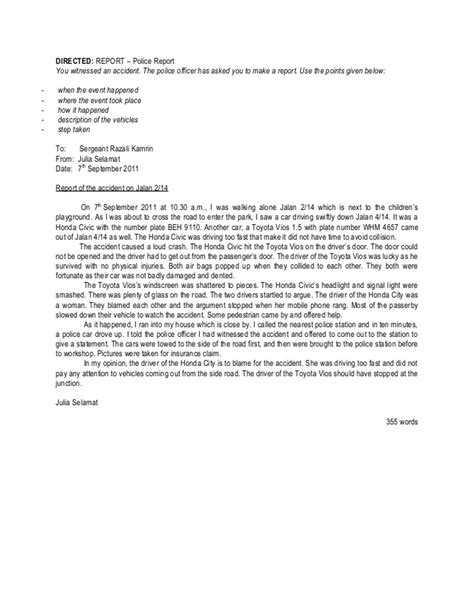 Report Letter Spm Directed Essay Saying Writing