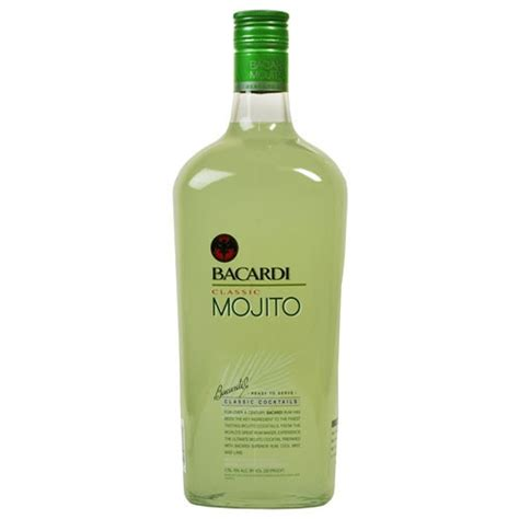 mojito cocktail bottle bacardi mojito 1750ml
