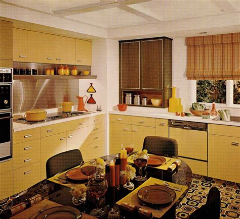 Wallpaper For Kitchen Backsplash by 1970s Kitchen Design One Harvest Gold Kitchen Decorated