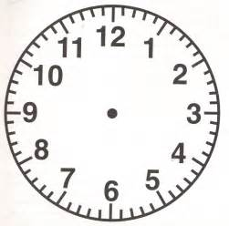 clockface template free clock coloring pages
