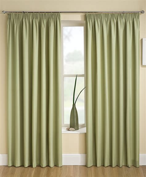 cream green curtains thermal blockout tape curtains pencil pleat cream pink