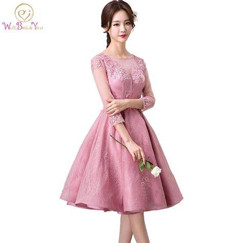 vestido noche corto vestido de noche corto sleeves evening dress pink