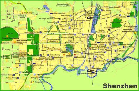shenzhen map tourist attractions shenzhen tourist map