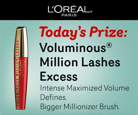 Loreal Sweepstakes - l oreal paris 31 days of beauty sweepstakes win a free product every day