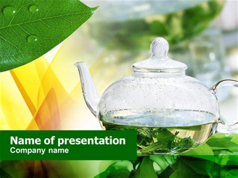 Green Tea Presentation Template For Powerpoint And Keynote Tea Ppt Template Free