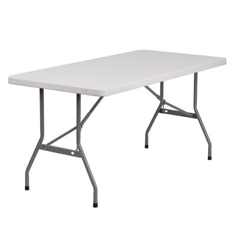 White Folding Tables by Molded Plastic Folding Table In White Rb 3060 Gg