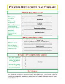 personal leadership plan template best photos of my personal development plan exle