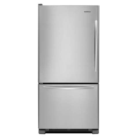 Single Door Refrigerator With Bottom Drawer Freezer by Kitchenaid Kbls19kcms 18 7 Cu Ft Single Door Bottom