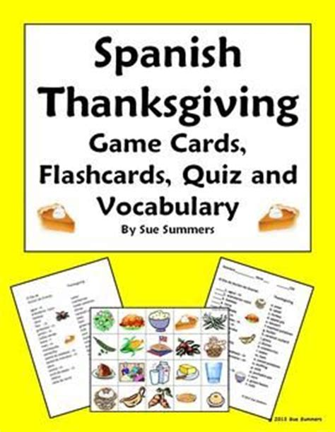 free printable spanish thanksgiving cards 1000 images about spanish class thanksgiving fall on