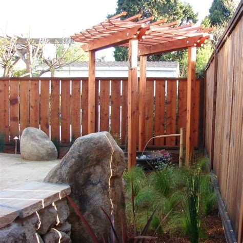 Redwood Trellis custom trellis and redwood fence