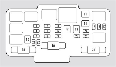 honda element   fuse box diagram carknowledge