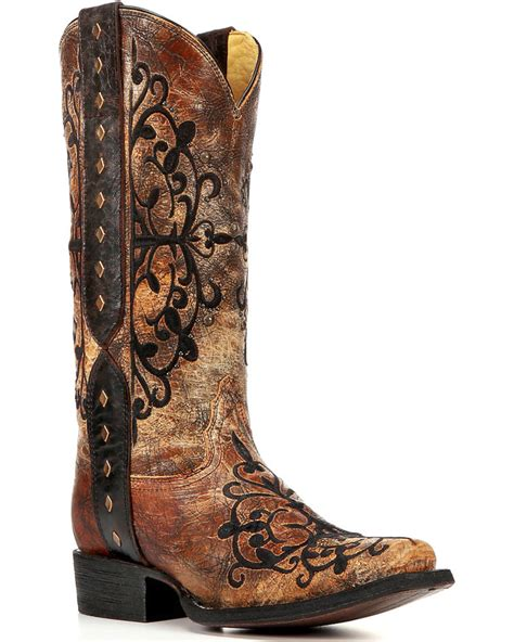 corral womens boots corral studded western ankle