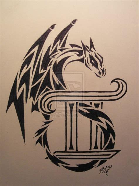 tattoo dragon letters cool tribal dragon gemini tattoo tatts pinterest
