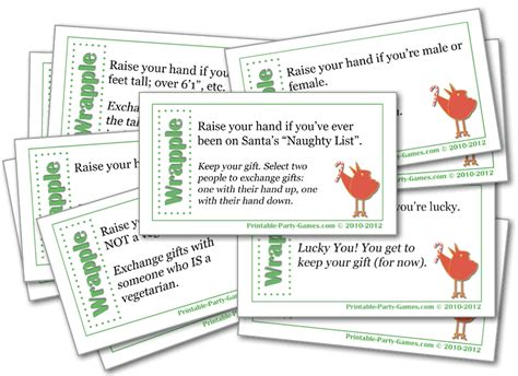 christmas games in office wrapple gift exchange and office printable