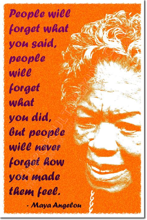 Poster A2 Quotes Motivasi Angelou angelou print quote photo poster gift quot will remember quot ebay