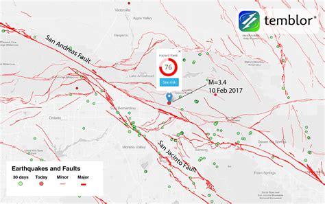 san andreas fault line map san andreas fault map san jacinto fault temblor net
