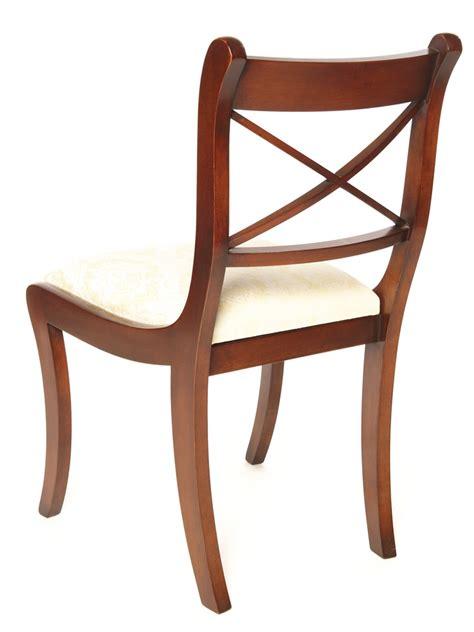 stuhl esszimmer esszimmer stuhl regency cross stick in mahagoni