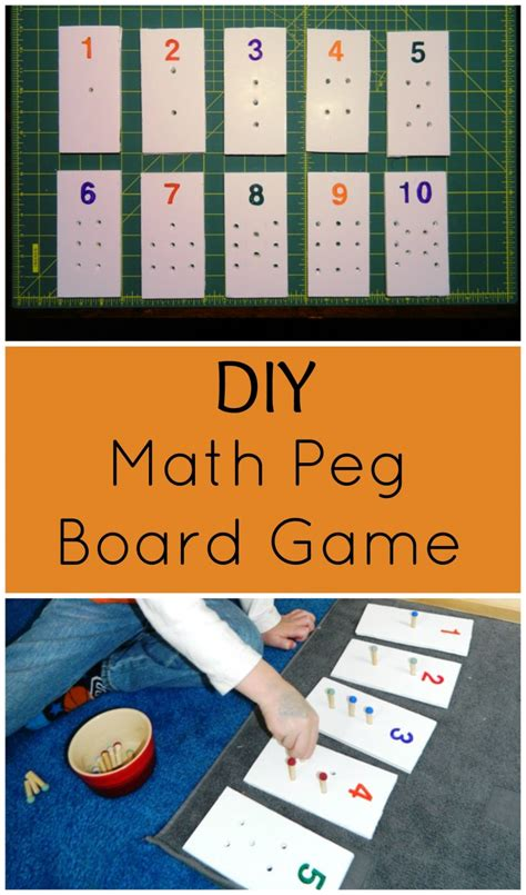 diy game diy math peg board game child led life