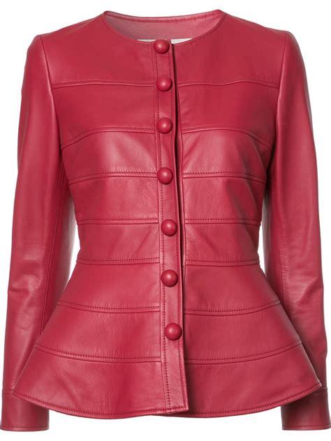 cuero comprar comprar chaqueta cuero roja mujer temporada de la moda