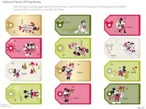 disney christmas gift tags preschoolears blog