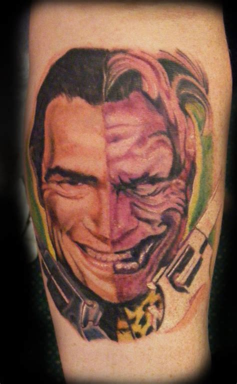 two face tattoos two by e nigmadesign on deviantart