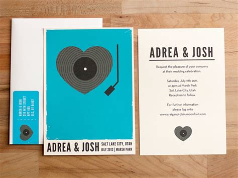 vintage record wedding invitations guest post inspired wedding invitations