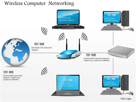 powerpoint design computer 0814 wireless computer networking wifi access point