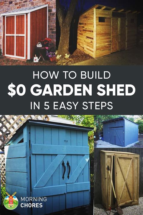 inexpensive shed how to build a free garden storage shed 8 more