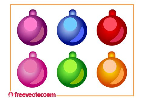 christmas ornaments vector set download free vector art