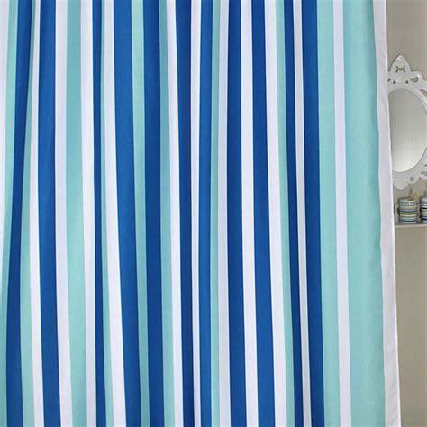 striped shower curtain blue stripe shower curtain