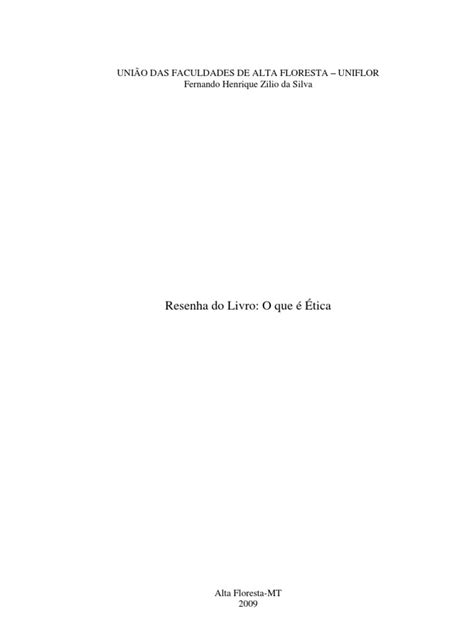 Resenha do Livro: O Que é Ética, de Álvaro Valls | Georg