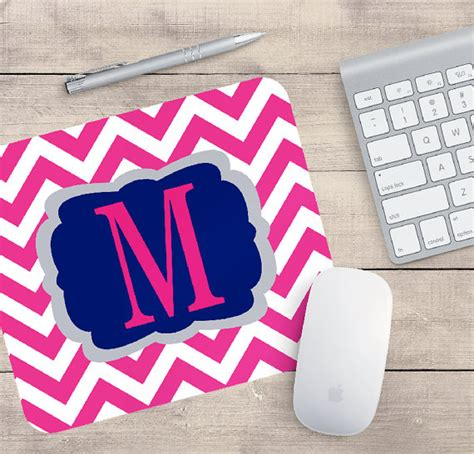 Chevron Office Decor by Monogram Chevron Mouse Pad Office Decor Coworker Gifts