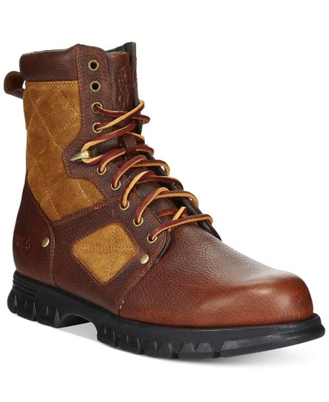 macys mens polo boots lyst polo ralph dennison boots in brown for