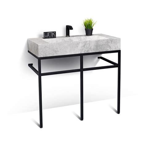 Steel Bathroom Vanity Vbt 039 Lms 039 39 Quot Marble And Black Steel Bathroom Vanity Unit Vanities Unik