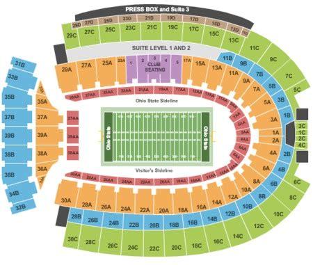 ohio state stadium seating chart ohio stadium tickets ohio stadium in columbus oh at