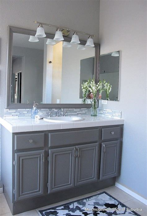 gray painted bathroom cabinets grey cabinets for belles bathroom basement pinterest