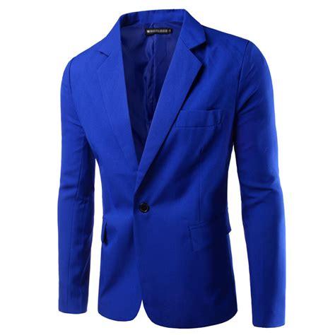Blazer Wanita Slim Mode mens slim fit one button outwear business casual blazer