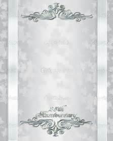 silver wedding anniversary invitations templates free 25th wedding anniversary invitations free templates