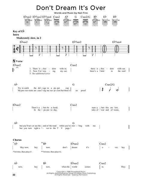 Crowded House Don T It S Lyrics by Don T It S Sheet By Crowded House Guitar