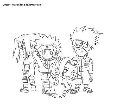 Team 7 Coloring Pages by Chibi Kakashi Drawings Kakashi Team Chibi By Endzi Z