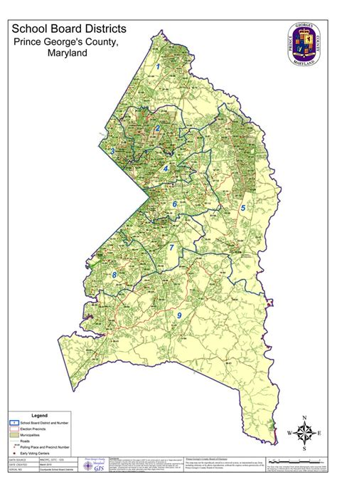 Search Pg County Md Prince George S Co New School Board Districts Map